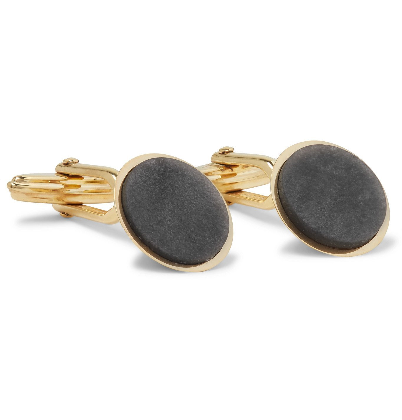 Photo: Lanvin - Gold-Plated and Obsidian Cufflinks - Gold