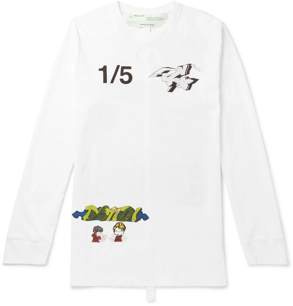 Photo: Off-White - Demon Printed Cotton-Jersey T-Shirt - White