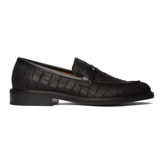 Photo: Off-White Black Croc Loafers