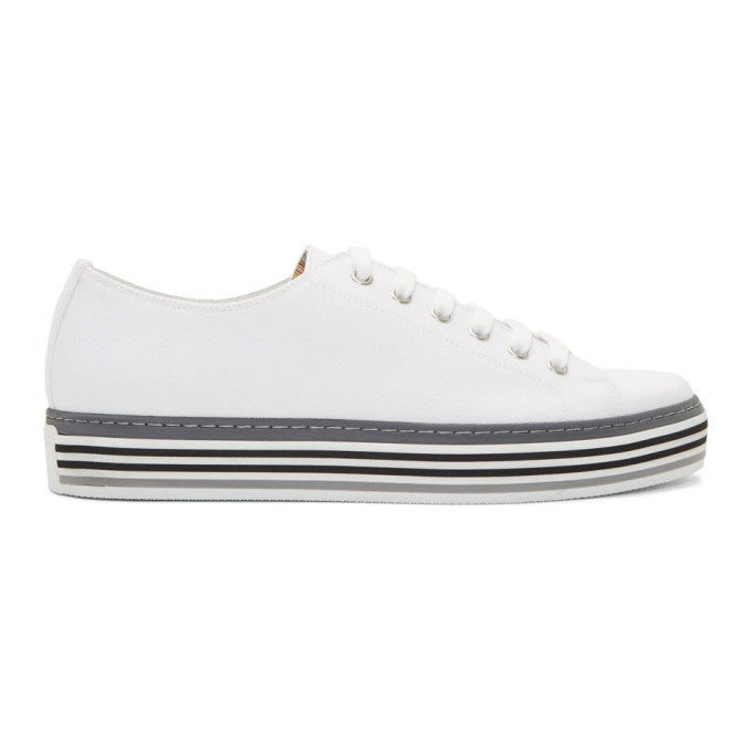 Photo: Paul Smith White Canvas Sotto Sneakers