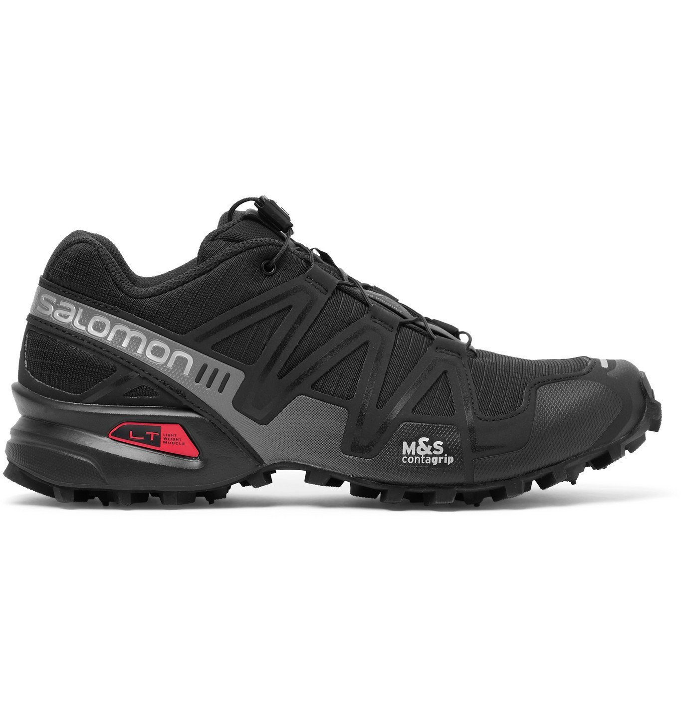 Photo: Salomon - Speedcross 3 ADV Ripstop, Mesh and Rubber Running Sneakers - Black