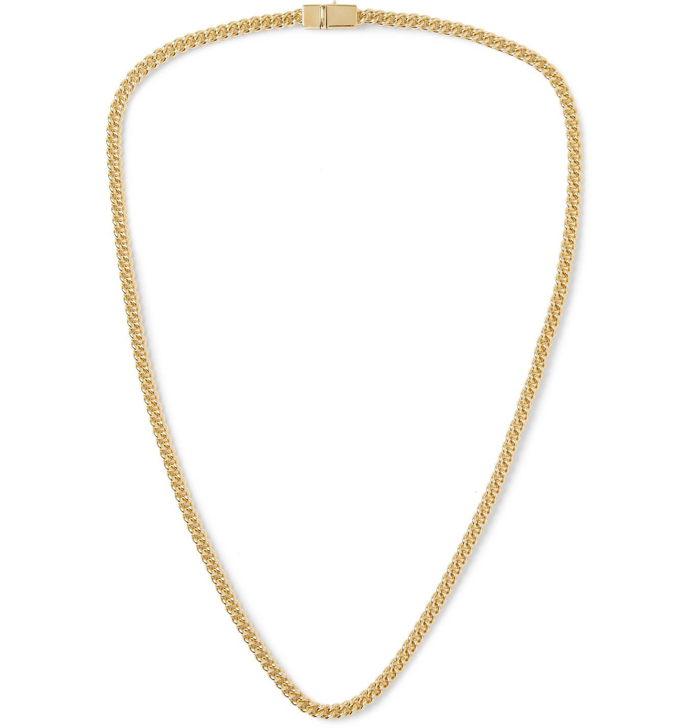 Photo: TOM WOOD - Gold Curb Chain Necklace - Gold
