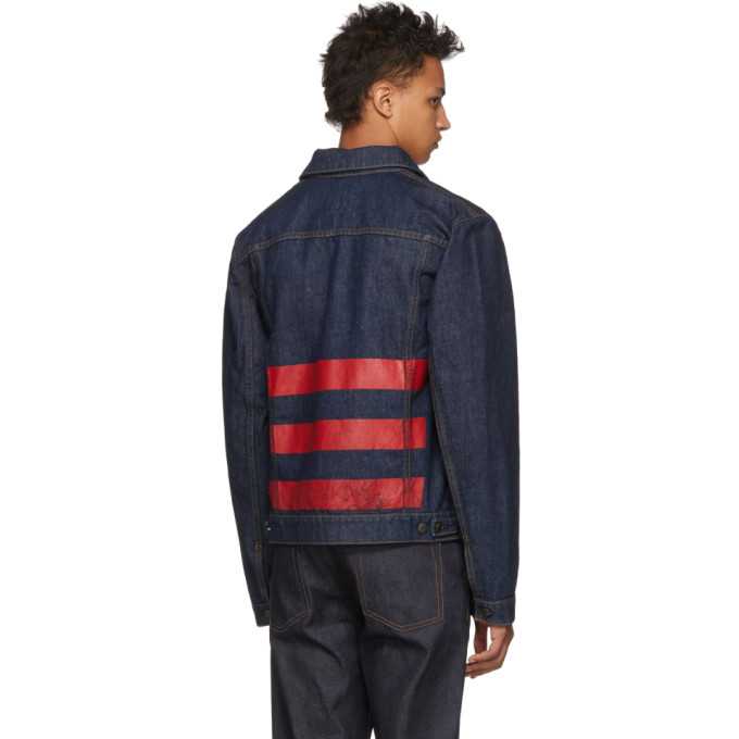 Helmut Lang Blue Re-Edition Stripe Denim Jacket