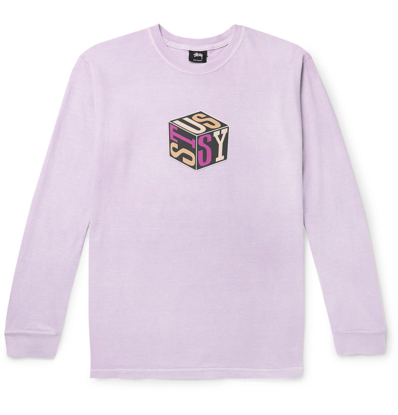 Photo: Stüssy - Logo-Print Cotton-Jersey T-Shirt - Pink