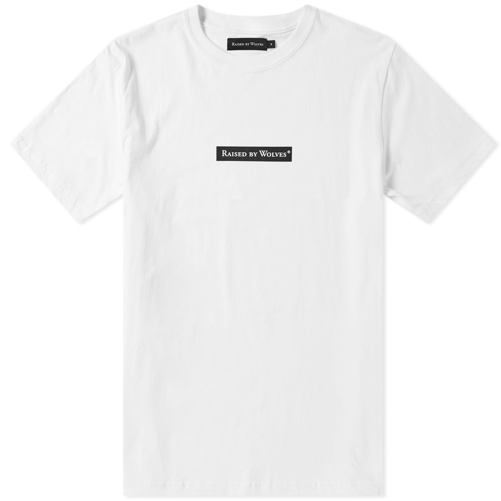 Photo: Raised by Wolves Box Logo Tee