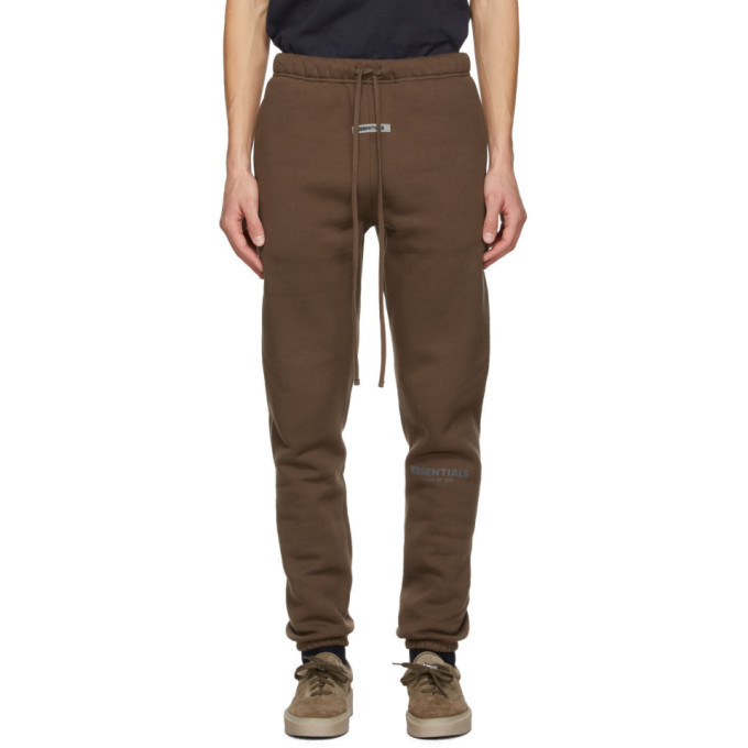 Photo: Essentials SSENSE Exclusive Brown Fleece Lounge Pants