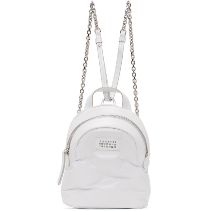 Photo: Maison Margiela White Mini Glam Slam Backpack