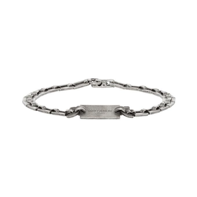 Photo: Saint Laurent Silver Plate Bracelet