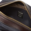 Filson - Leather-Trimmed Cotton-Canvas Wash Bag - Men - Navy