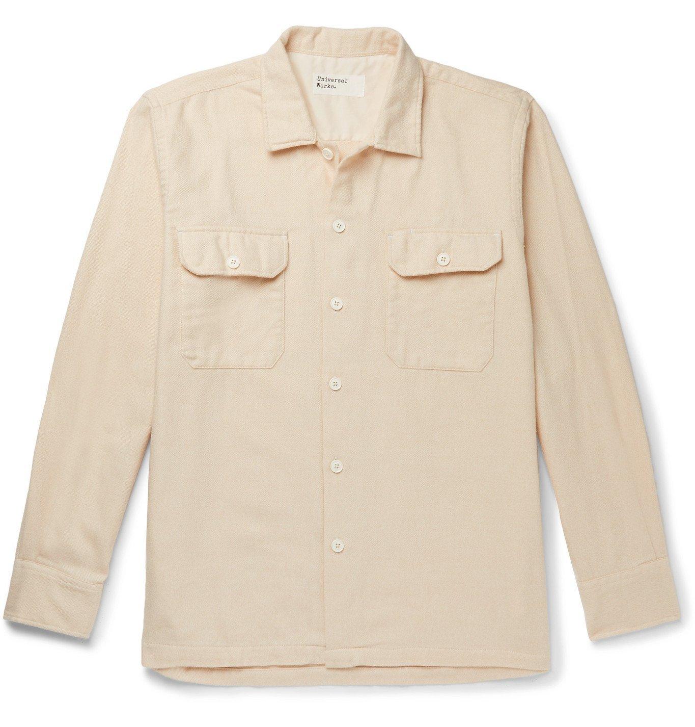 Photo: Universal Works - Brushed-Cotton Shirt - Neutrals