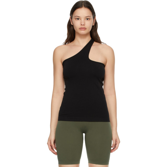 Photo: Helmut Lang Black Cut-Out Seamless Tank Top