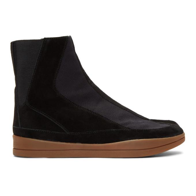 Photo: Abasi Rosborough Black Limited Edition Arc Apollo Tabi Boots