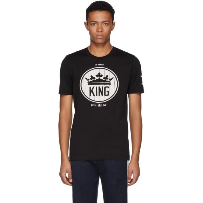 Photo: Dolce and Gabbana Black Crown King T-Shirt