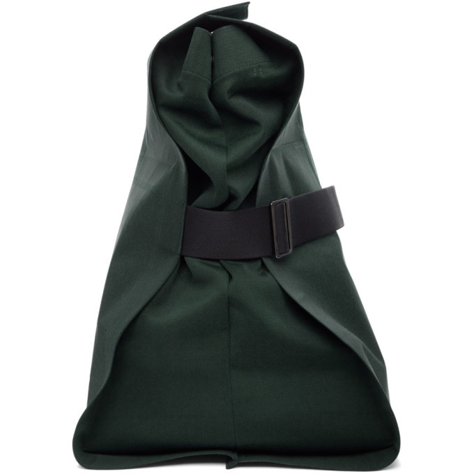 Photo: 132 5. ISSEY MIYAKE Green Unstrucured Layered Backpack