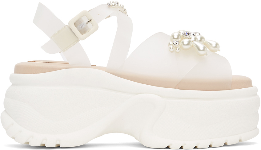 Photo: Simone Rocha Transparent Jelly Platform Track Sole Sandals