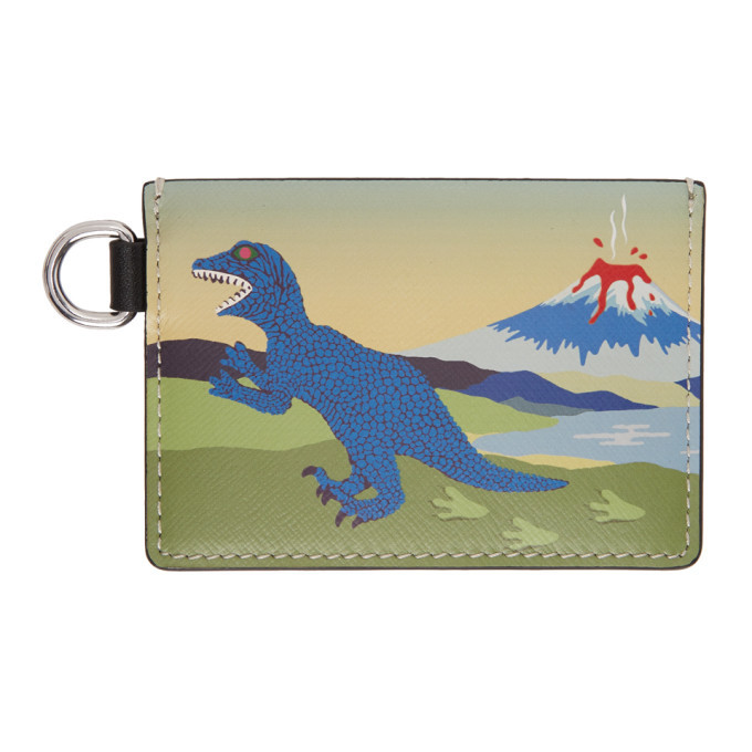 Photo: PS by Paul Smith Multicolor Dino Card Holder
