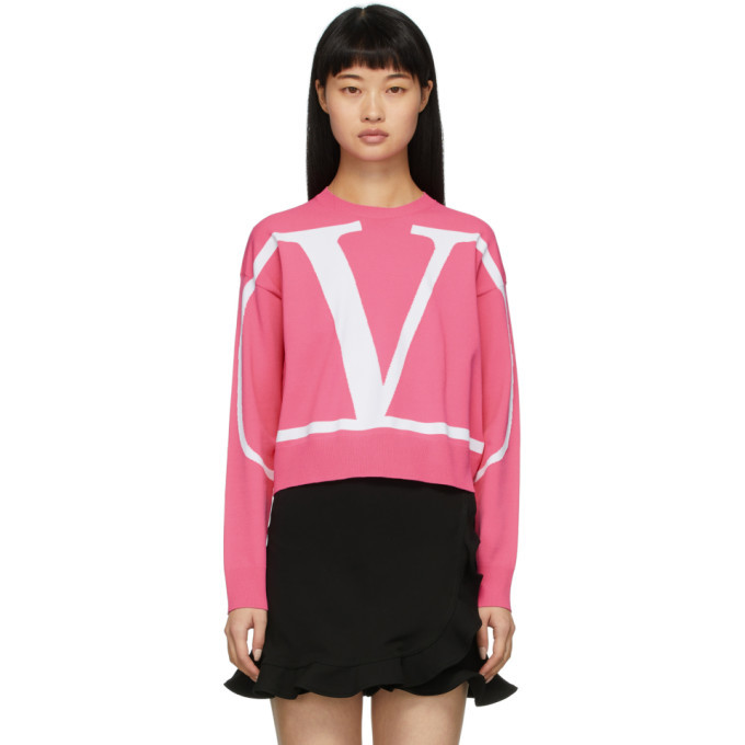 Photo: Valentino Pink VLogo Sweater