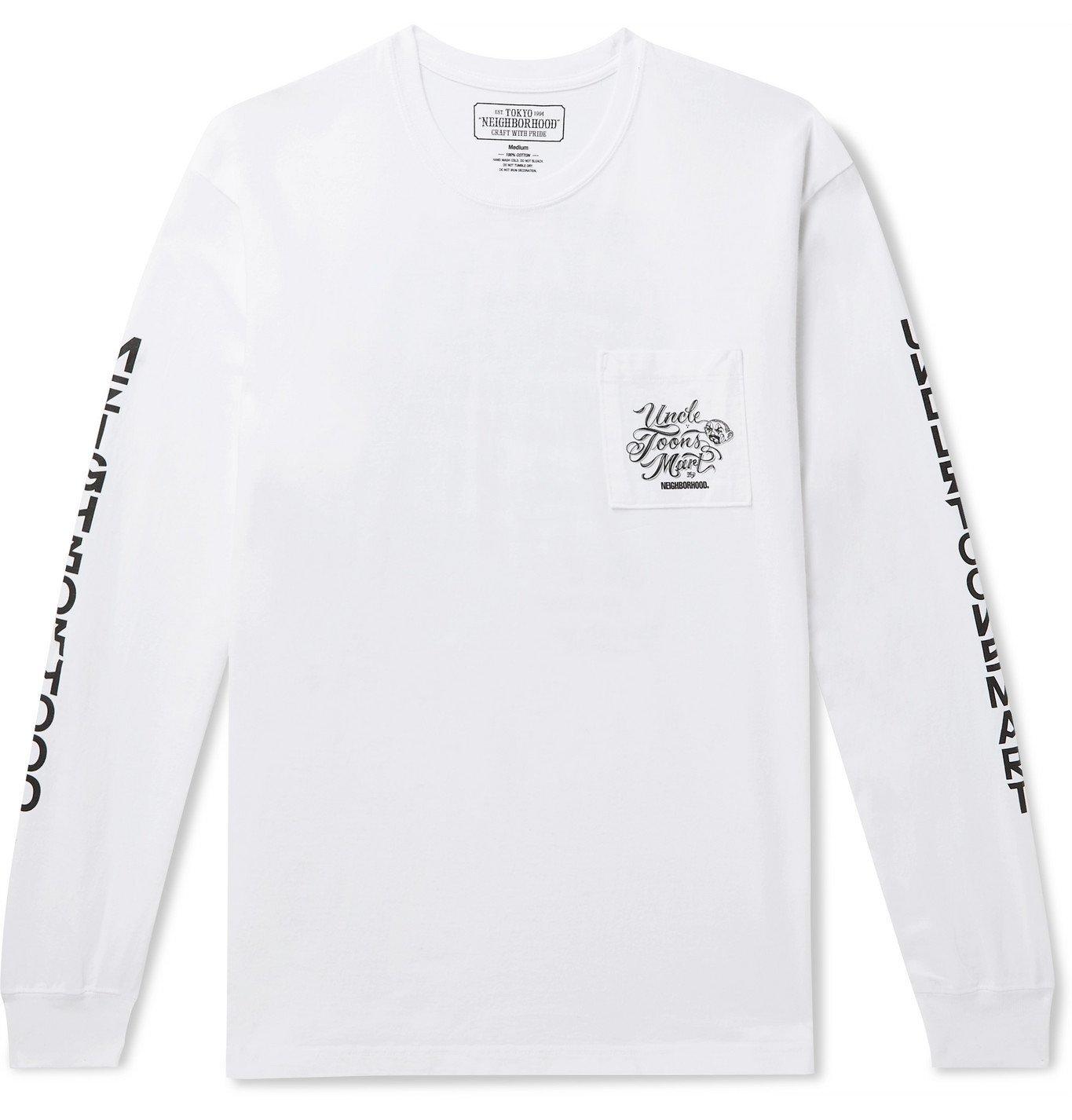 Photo: Neighborhood - Mr Cartoon Printed Cotton-Jersey T-Shirt - White