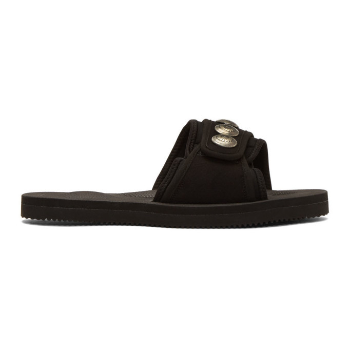 Photo: John Elliott Black Suicoke and Blackmeans Edition Lotus Slip-On Sandals