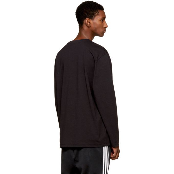 Y-3 Black Long Sleeve Classic Logo T-Shirt
