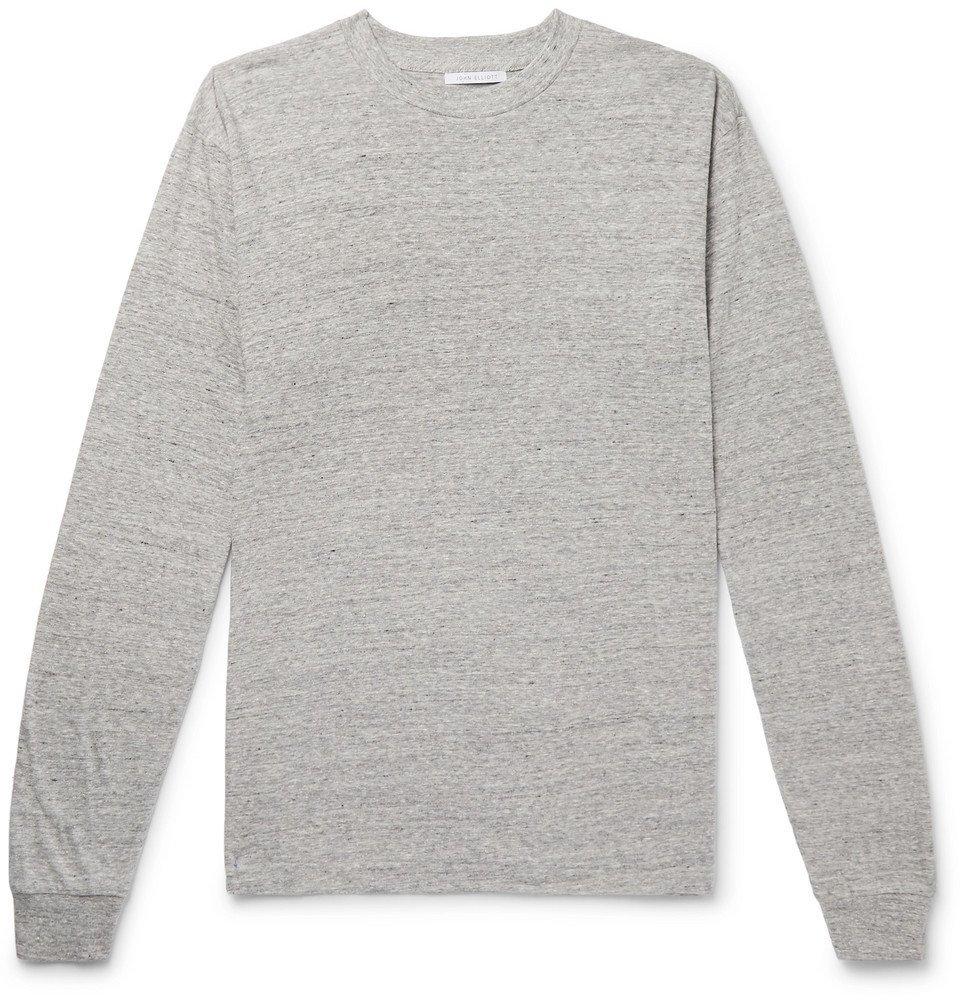 Photo: John Elliott - University Oversized Mélange Cotton-Blend Jersey T-shirt - Gray