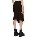 Sacai Brown Wool Skirt