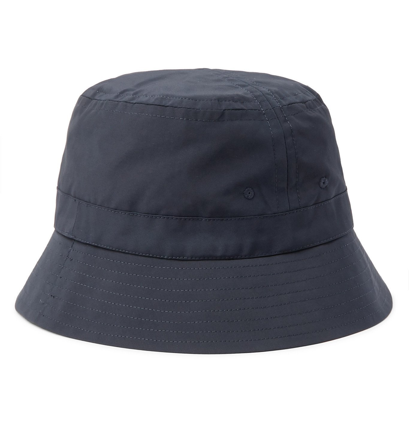 Photo: Bellerose - Logo-Embroidered Cotton-Blend Canvas Bucket Hat - Blue