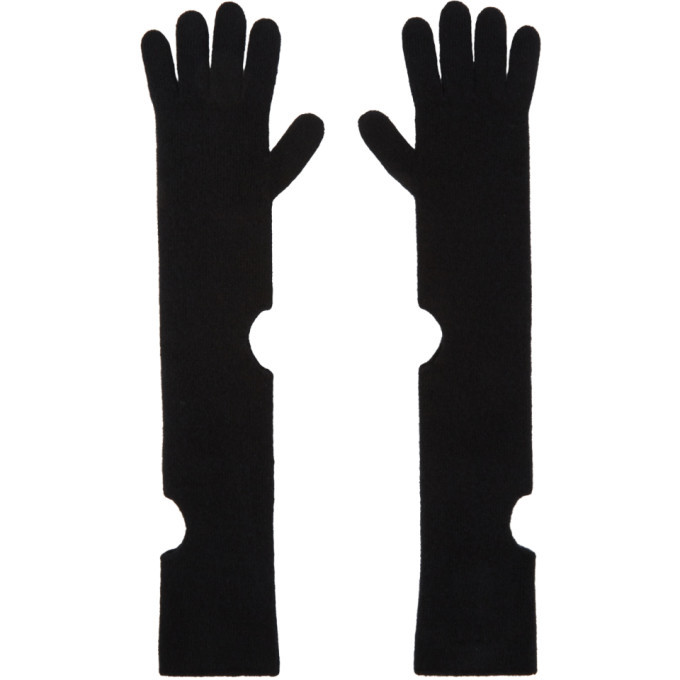 Photo: Off-White Black Wool Long Circle Gloves