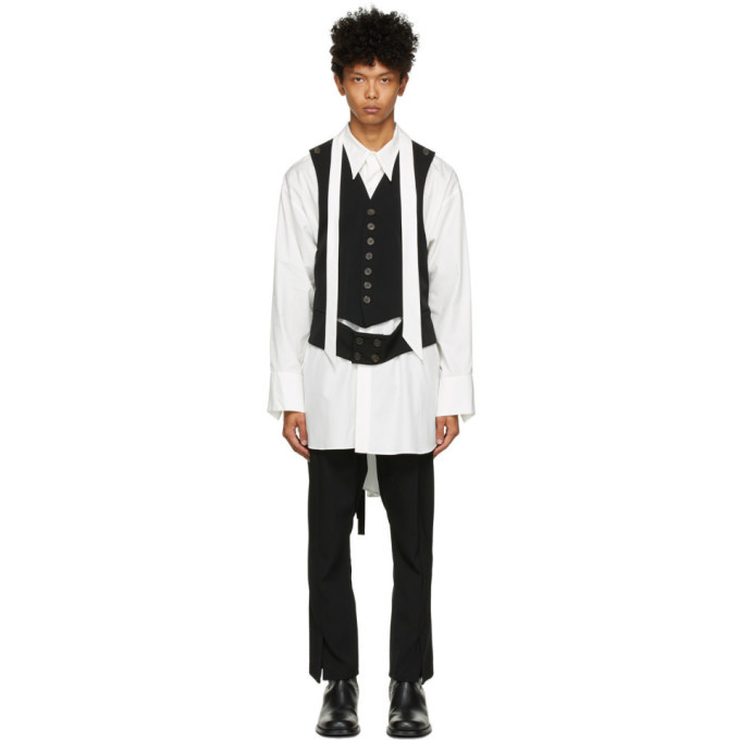 Photo: BED J.W. FORD White Silk Vest Shirt
