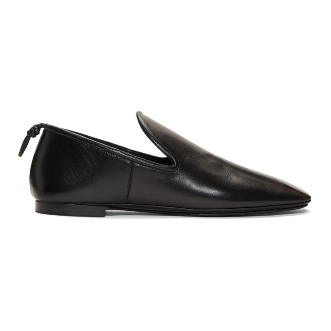Photo: Lemaire Black Soft Loafers