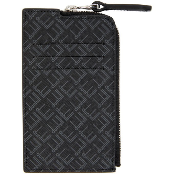 Dunhill Black Signature Zip Wallet