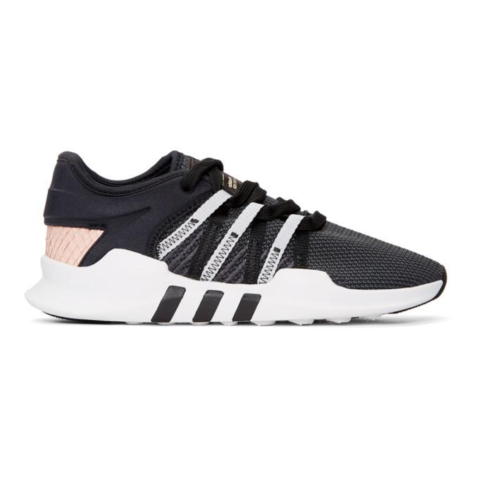 adidas Originals Black and Pink EQT Racing Adv Sneakers
