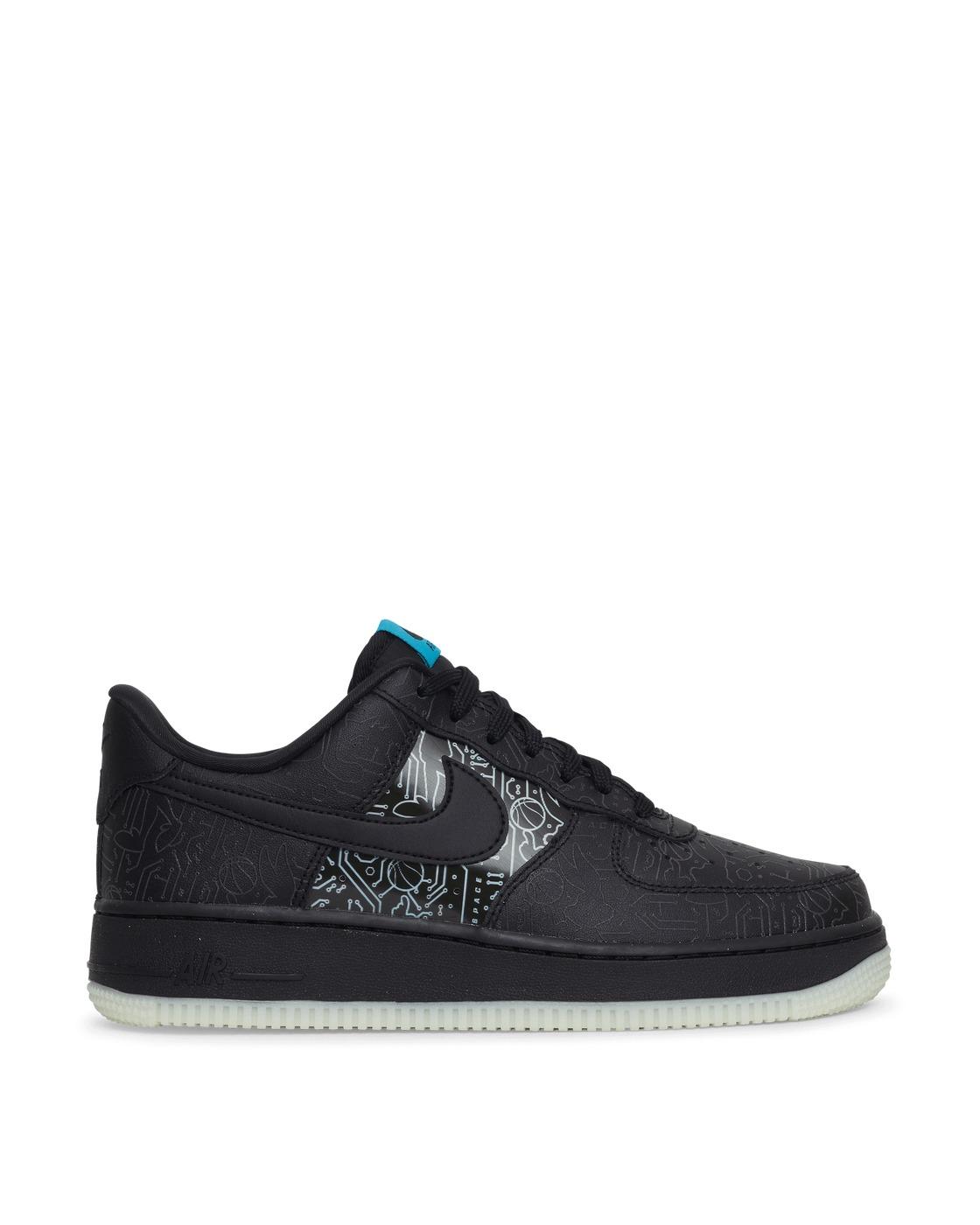Photo: Nike Space Jam Air Force 1 '07 Sneakers Black/Lt Blue Fury