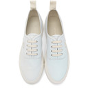 Common Projects Grey Nubuck Four Hole Low Sneakers