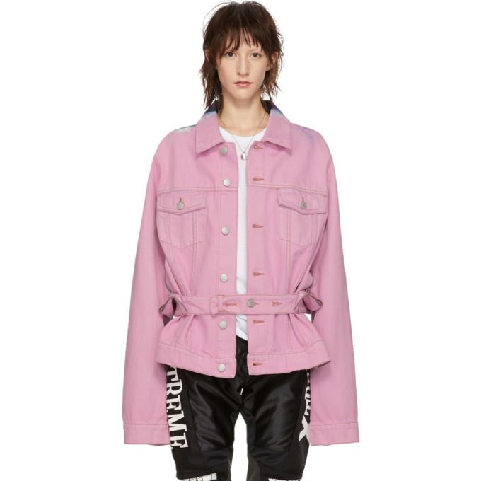 Martine Rose Pink Denim Tie-Dye Jacket