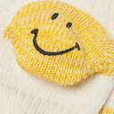KAPITAL - Smiley Striped Cotton and Hemp-Blend Socks - White
