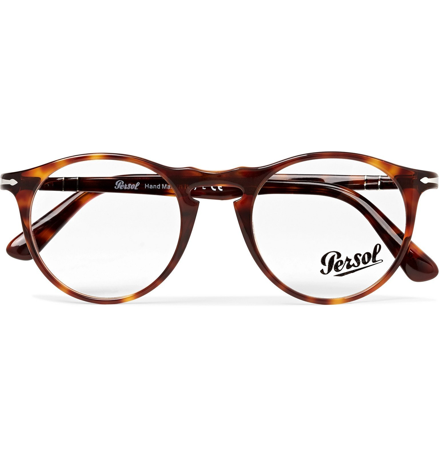 Photo: Persol - Round-Frame Tortoiseshell Optical Glasses - Tortoiseshell