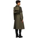 Sacai Khaki Gabardine Two-Tone Trench Coat