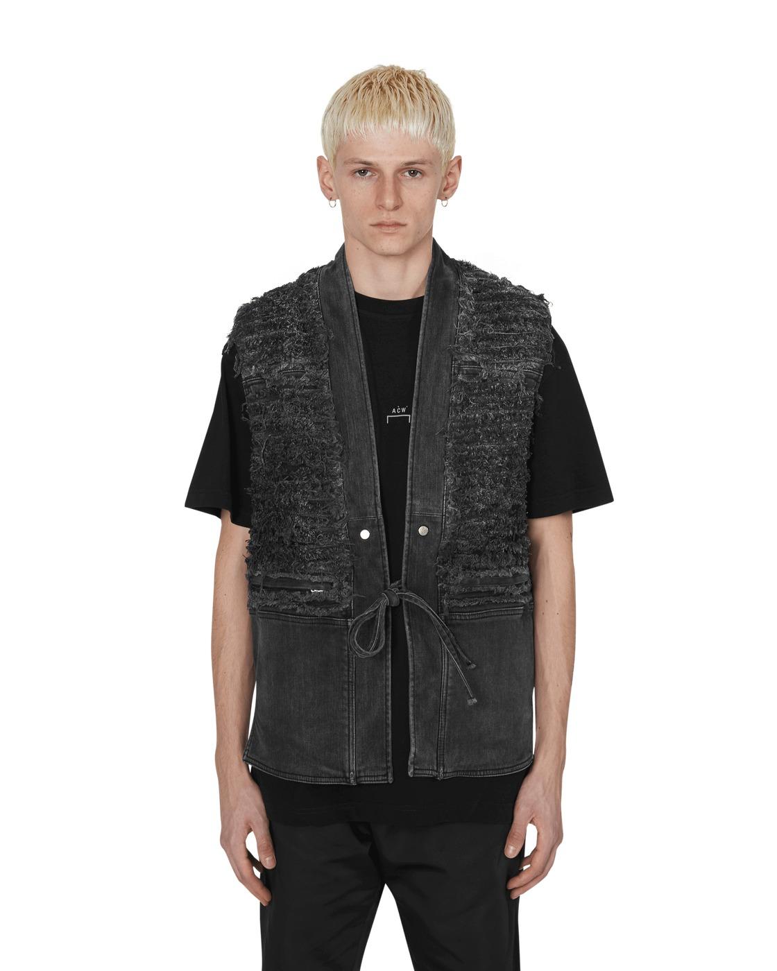 1017 Alyx 9sm Blackmeans Denim Vest Black