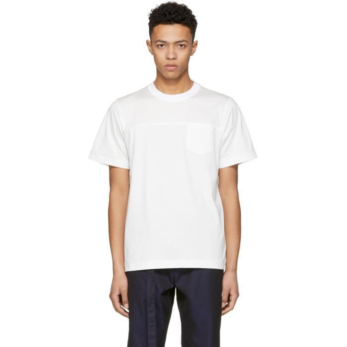 Sacai White Pocket T-Shirt