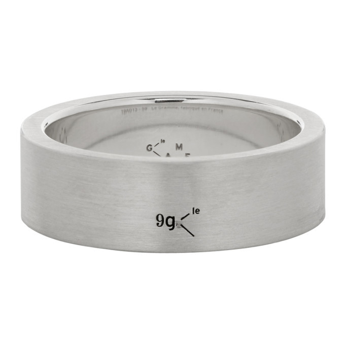 Photo: Le Gramme Silver Brushed Le 9 Grammes Ribbon Ring