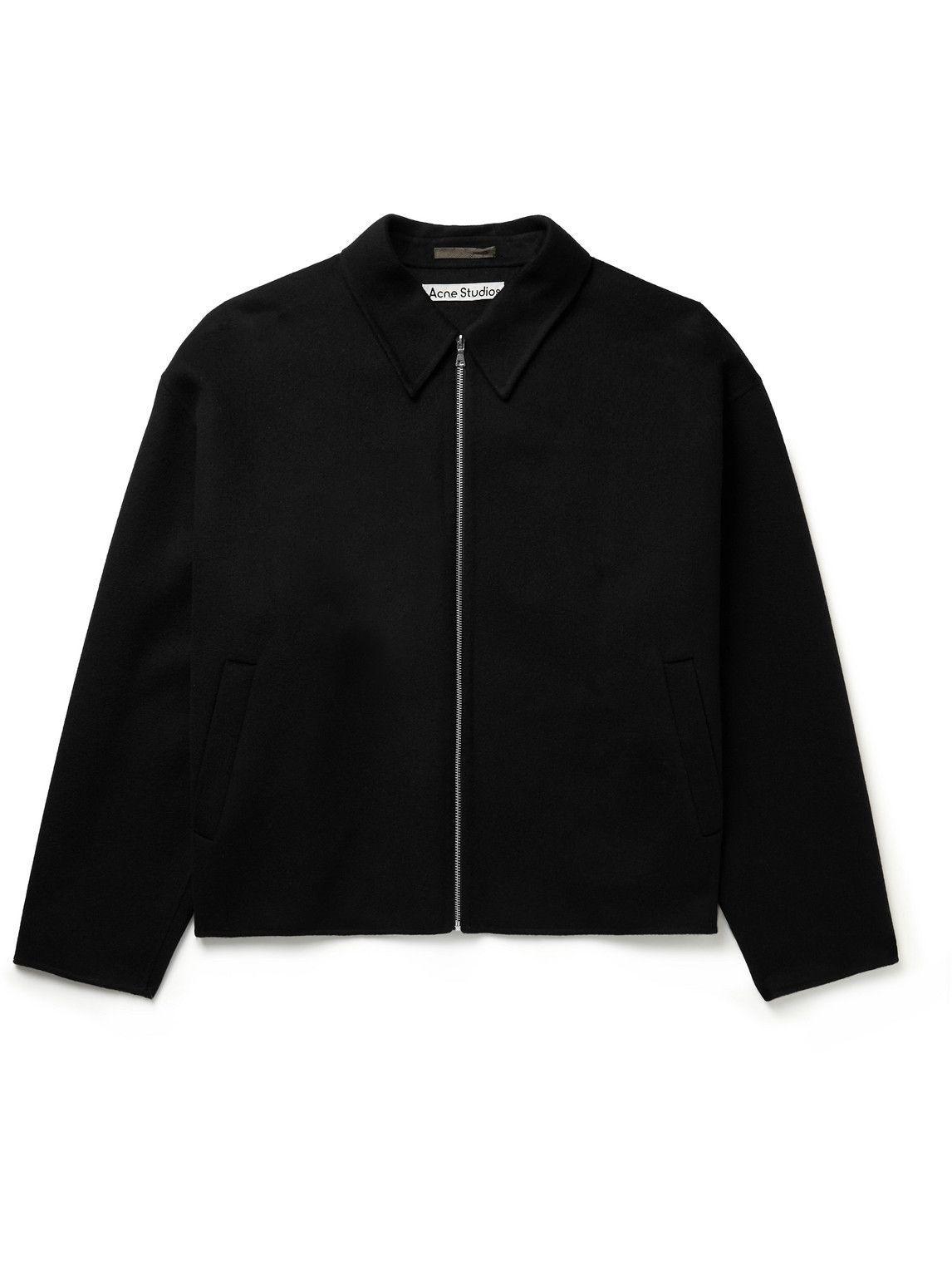 Photo: Acne Studios - Double-Faced Wool Jacket - Black