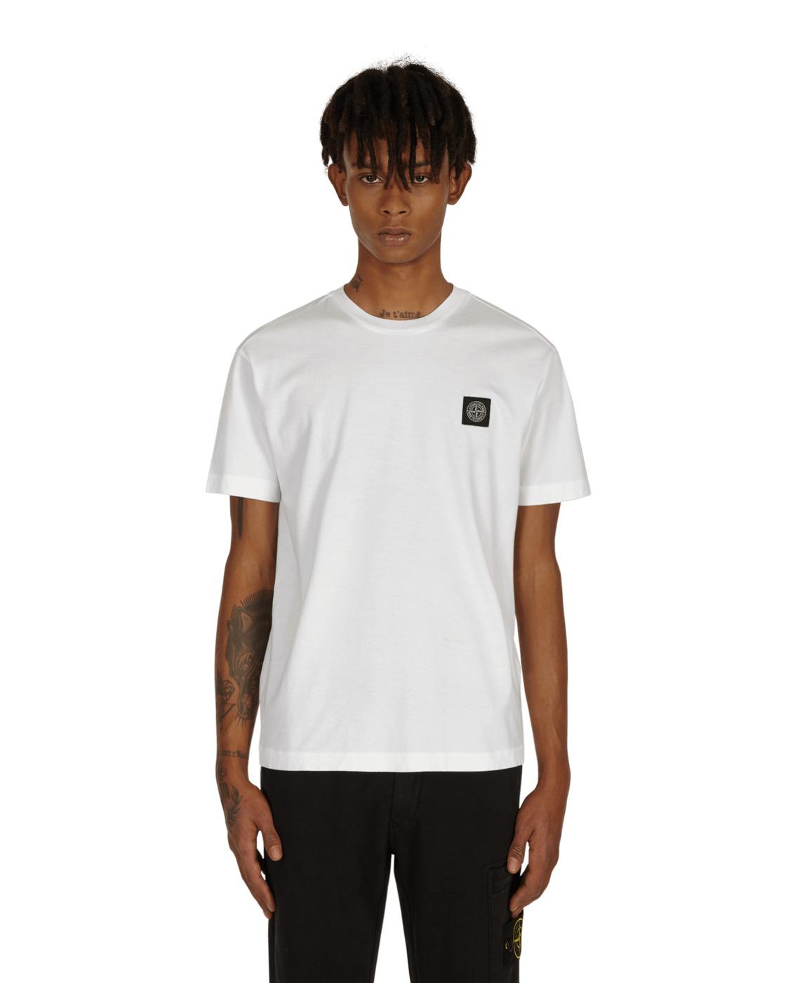 Stone Island Box Logo T Shirt White