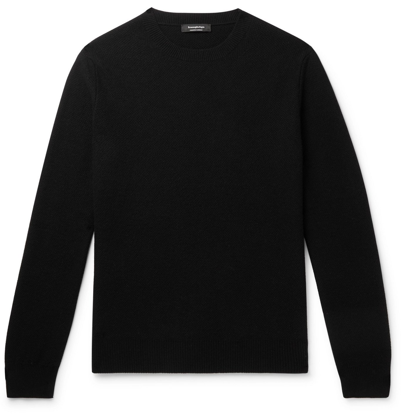 Photo: Ermenegildo Zegna - Textured-Cashmere Sweater - Black