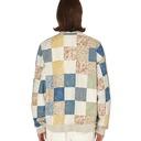 Kapital Fleecy Knit X American Quilt Country 2tones Big Sweatshirt Ecru