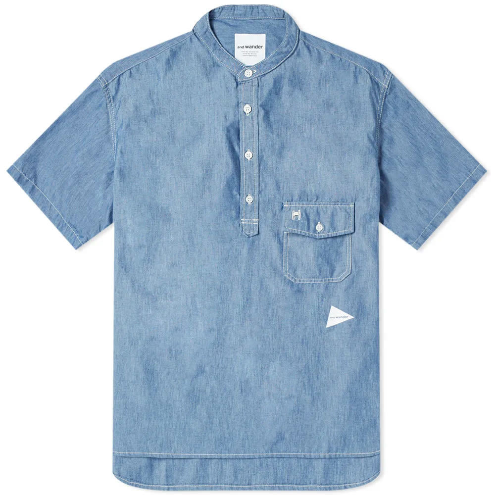 Photo: And Wander Popover Shirt Blue