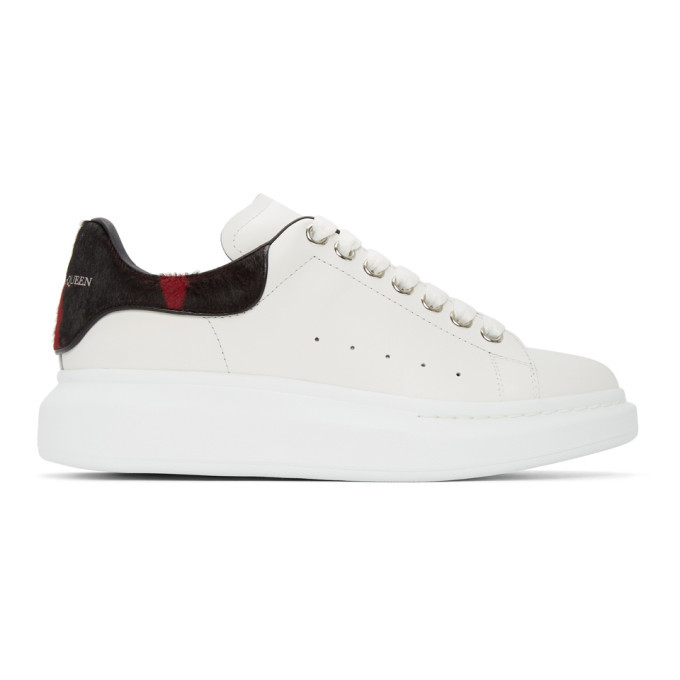 Photo: Alexander McQueen White Pony Hair Oversized Sneakers