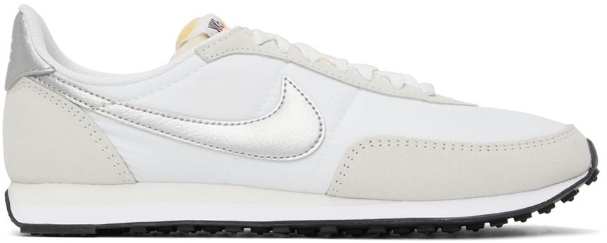 Photo: Nike Beige & White Waffle Trainer 2 Sneakers