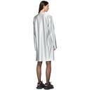 Comme des Garcons Homme Plus Silver and Black Print Dress
