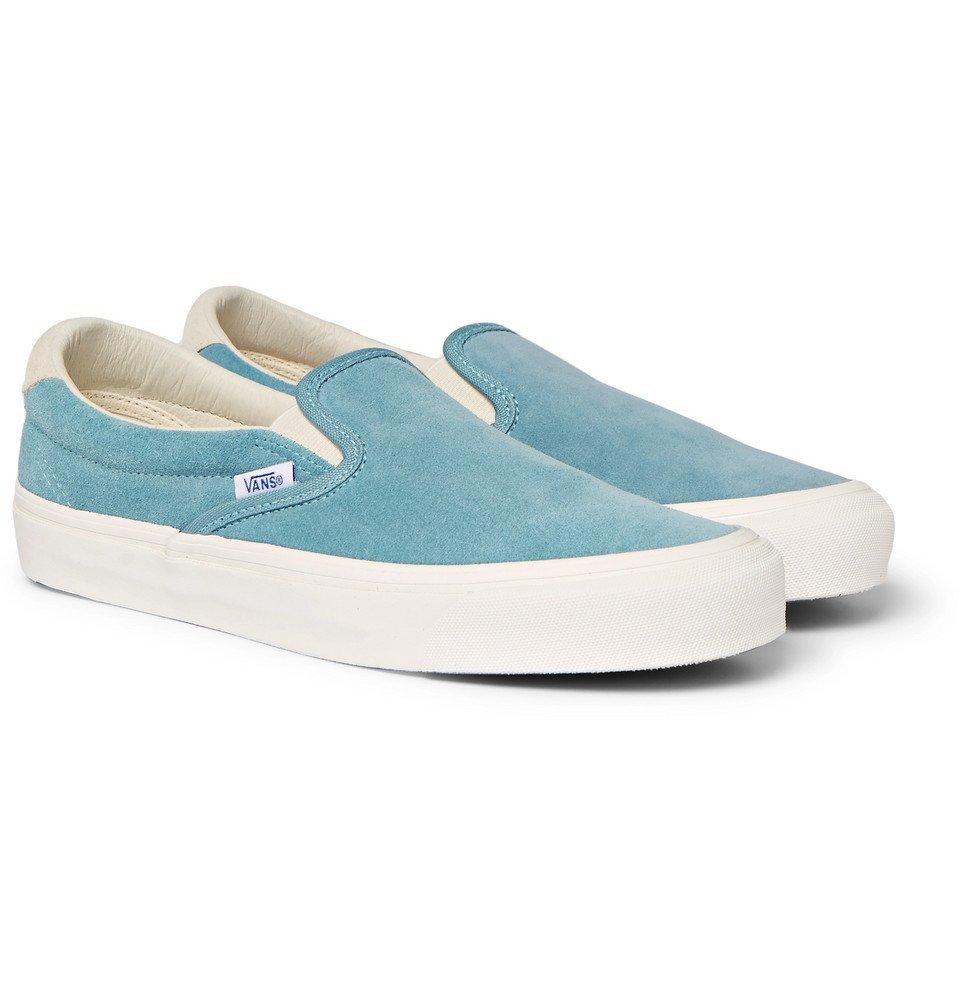 778f221be08f Vans - OG Classic LX Suede Slip-On Sneakers - Men - Light blue Vans